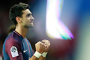 Paris Saint-Germain's Argentinian forward Javier Pastore celebrates after scoring during the French championship L1 football match between Paris Saint-Germain (PSG) and Toulouse, on August 20, 2017, at the Parc des Princes, in Paris, France - Photo Benjamin Cremel / ProSportsImages / DPPI