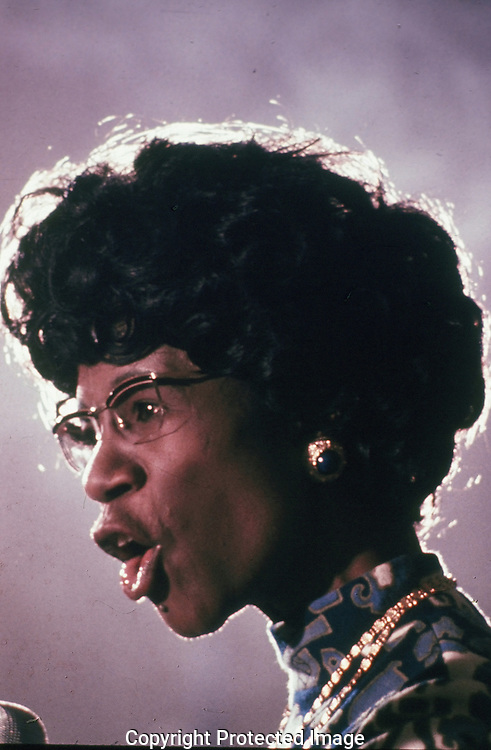 Shirley Chisholm speaking in 1968...Photograph by Dennis Brack BBBs 20