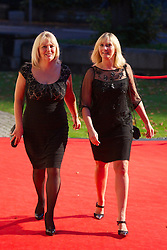 CARDIFF, WALES - Monday, October 8, 2012: Guests arrive for the FAW Player of the Year Awards Dinner at the National Museum Cardiff. xxxx. (Pic by David Rawcliffe/Propaganda)