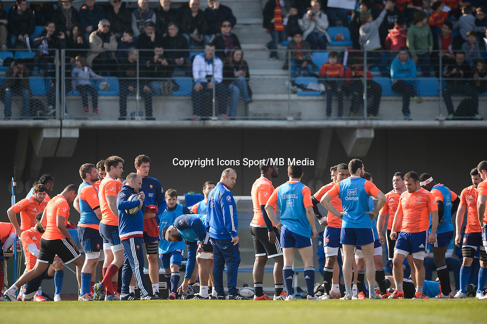 Philippe Saint Andre - 11.03.2015 - Rugby -Entrainement France -Marcoussis<br />Photo : Andre Ferreira / Icon Sport