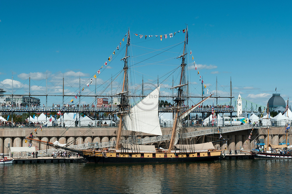 The Niagara, tall ship moored at the Old Port of Montreal