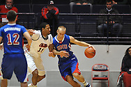 """SMU's Aliaksei Patsevich (13) vs. Ole Miss' Steadman Short (15) at the C.M. """"Tad"""" Smith Coliseum in Oxford, Miss. on Tuesday, January 3, 2012. Ole Miss won 50-48."""