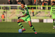 Forest Green Rovers Keanu Marsh-Brown(7) runs forward during the Vanarama National League match between Forest Green Rovers and Braintree Town at the New Lawn, Forest Green, United Kingdom on 21 January 2017. Photo by Shane Healey.