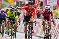 July 23, 2017 - Seraing, BELGIUM - Belgian Jasper De Buyst of Lotto Soudal beats Danish Michael Morkov of Katusha-Alpecin at the finish of the second stage of the 38th edition of the Tour de Wallonie (Ronde van Wallonie), 191,5km from Chaudfontaine to Seraing, Sunday 23 July 2017. This year's edition of the Tour de Wallonie takes plave from 22 to 26 July. BELGA PHOTO LUC CLAESSEN (Credit Image: © Luc Claessen/Belga via ZUMA Press)