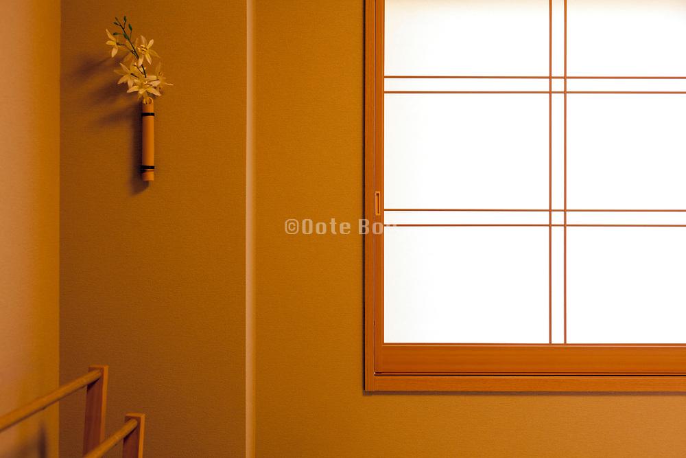 window detail in Japanese hotel room