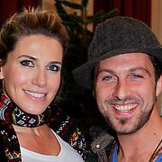 NLD/Amsterdam/20111208- Sky Radio Christmas tree for Charity, Danielle Oerlemans en Christoph Haddad