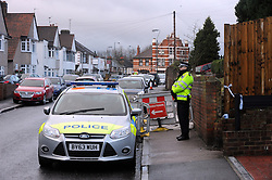 © Licensed to London News Pictures. 07/01/2016<br /> Police at the family home in Erith,Kent today (7.01.2016)<br /> Ex-Eastenders actress Sian Blake's home in Erith,Kent has turned into a crime scene (07.01.2016) with officers from the Met's Homicide and Major Crime Command leading the murder investigation.<br /> <br /> (Byline:Grant Falvey/LNP)
