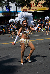 California: San Francisco Carnaval festival parade in the Mission District. Photo copyright Lee Foster. Photo # 30-casanf81173