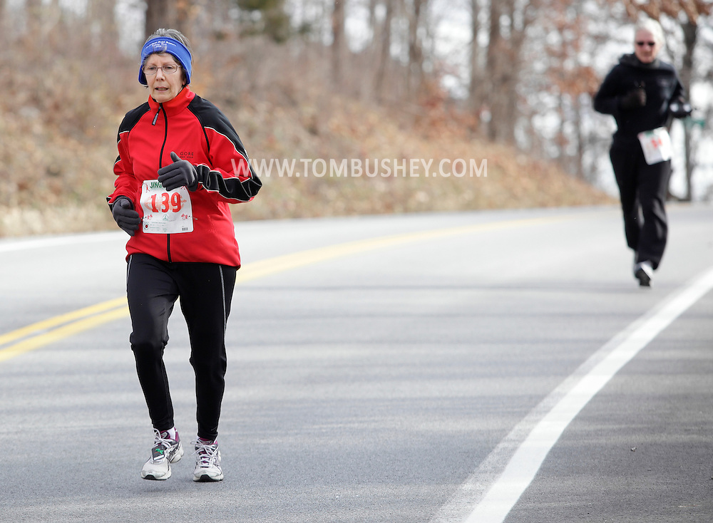 Salisbury Mills, New York - Runners compete in the Orange Runners Club Jingle Jog 7K race on Dec. 4, 2010.