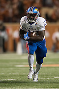 AUSTIN, TX - NOVEMBER 7:  Ke'aun Kinner #22 of the Kansas Jayhawks breaks free against the Texas Longhorns on November 7, 2015 at Darrell K Royal-Texas Memorial Stadium in Austin, Texas.  (Photo by Cooper Neill/Getty Images) *** Local Caption *** Ke'aun Kinner