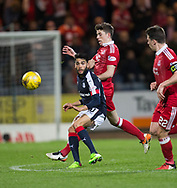 Dundee&rsquo;s Faissal El Bakhtaoui and Aberdeen&rsquo;s Ryan Christie - Dundee v Aberdeen in the Ladbrokes Scottish Premiership at Dens Park, Dundee. Photo: David Young<br /> <br />  - &copy; David Young - www.davidyoungphoto.co.uk - email: davidyoungphoto@gmail.com