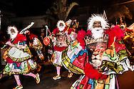 Parade of the Sinistro gang in Madureira, zona norte of Rio de Janeiro.