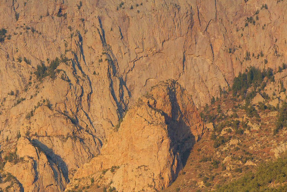 The majesty of the Sandia peak in it's craggy detail...a new view each time you look close