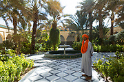 Tourism guide walks around Rissani, Southern Morocco, 2017-12-16.