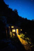 Beautiful stone cabin near Leavenworth, Washington.