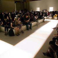 BEIJING, MAY-22 : a selected clientele waits for the beginning of the Balmain spring/summer 2012 show.