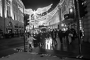 Cristmas lights on Regent St.  London.  21 November 2016