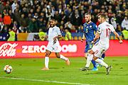 Goal England midfielder Harry Winks scores a goal 0-1 during the UEFA European 2020 Qualifier match between Kosovo and England at the Fadil Vokrri Stadium, Pristina, Kosovo on 17 November 2019.