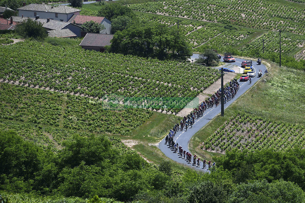June 8, 2017 - Macon, France - MACON, FRANCE - JUNE 8 : Illustration picture of the peloton Landscape Bunch Postcard Post card Paysage Carte Postale landschap briefkaart  during stage 5 of the 69th edition of the Criterium du Dauphine Libere cycling race, a stage of 175 kms between La Tour-de-Salvagny and Macon on June 08, 2017 in Macon, France, 8/06/2017 (Credit Image: © Panoramic via ZUMA Press)