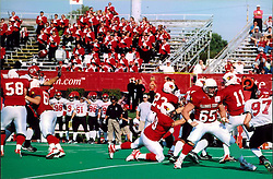 September 22, 2001:  Illinois State Redbirds Football, #11 - Quarterback Kevin Zouzounis...This image was scanned from a print.  Image quality may vary.  Dust and other unwanted artifacts may exist.