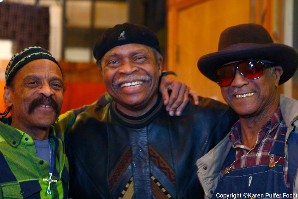 Feb 9, 2012 -  Memphis musicians play around during a recording session at WIllie Mitchell's  Royal Studios in south Memphis.  TEENIE HODGES, OTIS CLAY and EARL BANKS (left to right) (Karen Pulfer Focht)