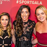 NLD/Amsterdam/20161221 - NOC*NSF Sportgala 2016, Ellen Hoog, Naomi van As en Maartje Paumen