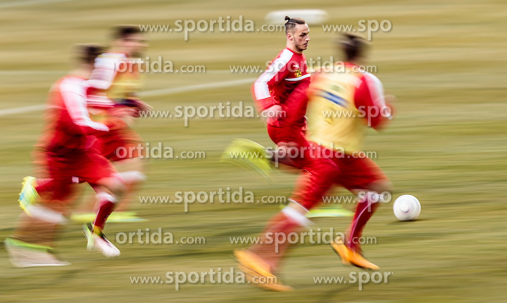 22.03.2016, Sportzentrum, Stegersbach, AUT, OeFB Training, im Bild Marko Arnautovic (AUT) // Marko Arnautovic (AUT) during a Trainingssession of Austrian National Footballteam at the Sportcenter in Stegersbach, Austria on 2016/03/22. EXPA Pictures © 2016, PhotoCredit: EXPA/ JFK