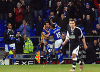 Photo: Ashley Pickering.<br />Ipswich Town v Swansea City. The FA Cup. 27/01/2007.<br />Ipswich's Alan Lee (L) celebrates his goal (1-0)