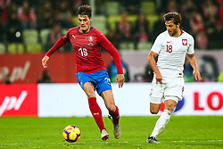 November 15, 2018 - Gdansk, Poland - Bartosz Bereszynski of Poland  vies Michal Travnik of Czech Republic during the international friendly soccer match between Poland and Czech Republic at Energa Stadium in Gdansk, Poland on 15 November 2018. (Credit Image: © Foto Olimpik/NurPhoto via ZUMA Press)