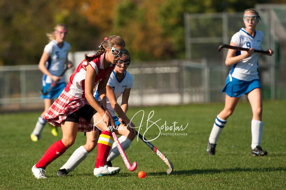 Gilford varsity field hockey versus Laconia October 5, 2012.