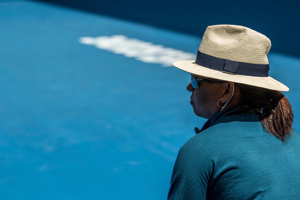 A line judge on day ten of the 2018 Australian Open in Melbourne Australia on Wednesday January 24, 2018.<br /> (Ben Solomon/Tennis Australia)