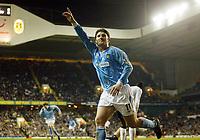 Photograph: Scott Heavey.<br /> Tottenham Hotspur v Manchester City. FA Cup Fourth Round Replay. 04/02/2004.<br /> Jon Macken celebrates in his winner