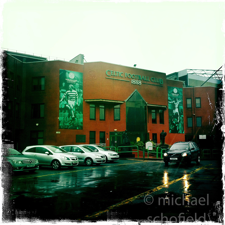 Celtic FC stadium..Hipstamatic images taken on an Apple iPhone..©Michael Schofield.
