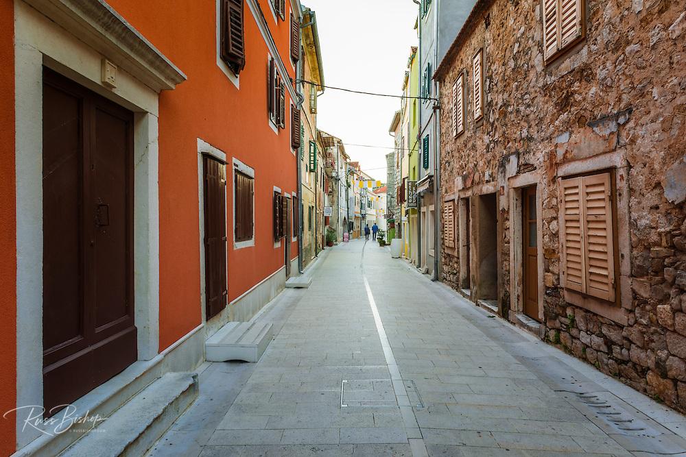 Narrow street and shops, Skradin, Dalmatia, Croatia