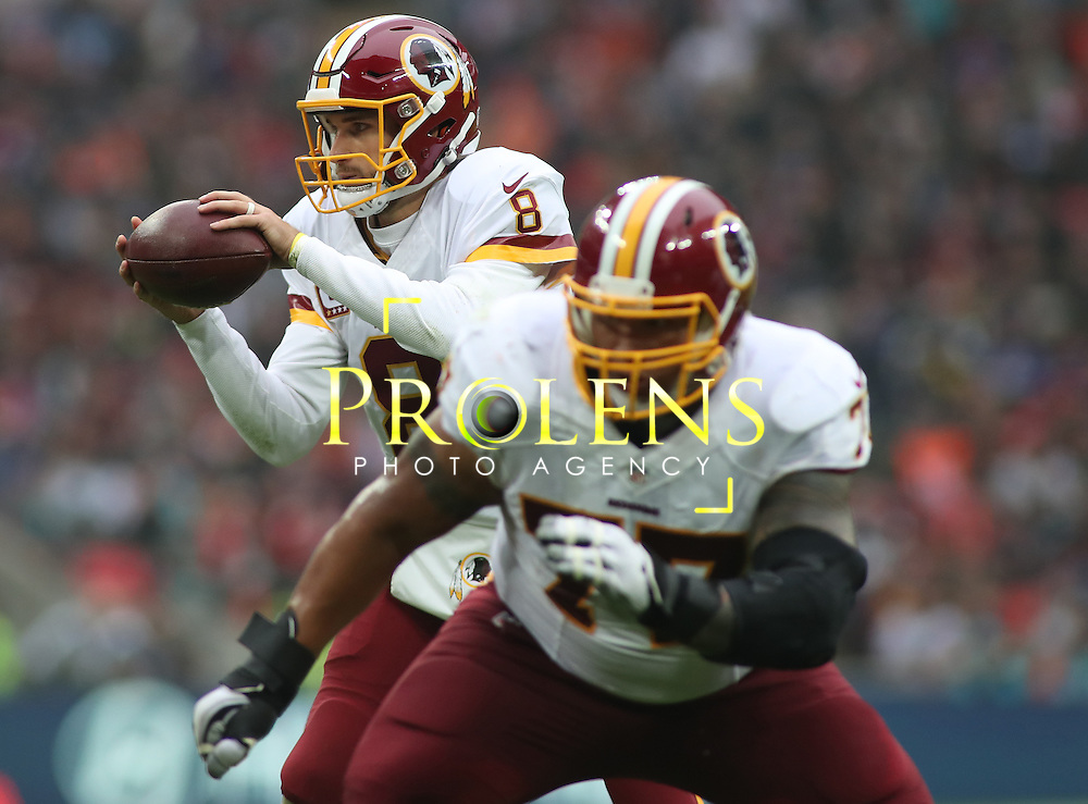NFL International Series 2016 Washington Redskins @ Cincinnati Bengals 30th OCT 2016<br /> <br /> Washington Redskins Quarterback Kirk Cousins (8)  during game 17 of the NFL International Series between the  Washington Redskins and Cincinnati Bengals, From Wembley Stadium, London.<br /> <br /> Pic Micthell Gunn / PLPA? ProLens Photo Agency.<br /> Sunday 30 October 2016