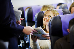 Client: Monarch Airlines. Onboard lifestyle shoot. Photo: Anthony Charlton