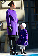 Stockholm, 12-03-2015<br /> <br /> <br /> Crown Princess Victoria name Day with Crown Princess Victoria and Princess Estelle.<br /> <br /> Photo: Bernard Ruebsamen/Royalportraits Europe