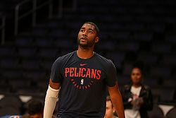 February 27, 2019 - Los Angeles, CA, U.S. - LOS ANGELES, CA - FEBRUARY 27: New Orleans Pelicans Guard E'Twaun Moore (55) before the New Orleans Pelicans versus Los Angeles Lakers game on February 27, 2019, at Staples Center in Los Angeles, CA. (Photo by Icon Sportswire) (Credit Image: © Icon Sportswire/Icon SMI via ZUMA Press)