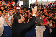 SAINT RAPHAEL, FRANCE - APRIL 07:  French President Nicolas Sarkozy attends UMP Campaign Meeting at the Palais des Sports on April 7, 2012 in Saint Raphael, France.  (Photo by Tony Barson/Getty Images) *** Local Caption *** Nicolas Sarkozy