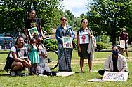 People protest in support of Black Lives Matter in Haringey. London, 14 June, 2020. (Photos/Ivan Gonzalez)