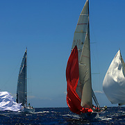 Yacht's Ruthmagic (left) Chutzpah (centre) and Patrice SiX (correct, right) prepare to round a marker buoy as they compete in The Rolex Trophy 2008 Rating series run by The Cruising Yacht Club of Australia on December 20, 2008 in Sydney, Australia. The racing series, conducted in the waters around Sydney, is a preliminary tournament to the Rolex Sydney Hobart Yacht race 2008 which will start of Boxing Day, December 26th. Over 100 yacht's are entered in this years race with spectators on the Sydney Harbour foreshore estimated to reach around 500,000 people. Photo Tim Clayton