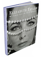 "Elizabeth Taylor ""My Love Affair with Jewelry"" book photographed on a white background."