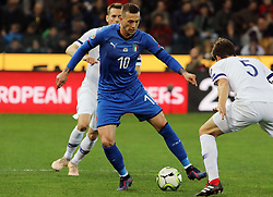 "March 23, 2019 - Udine, Italia - Foto LaPresse/Andrea Bressanutti.23/03/2019 Udine (Italia).Sport Calcio.Italia vs. Finlandia - European Qualifiers - Stadio ""Dacia Arena"".Nella foto: bernardeschi..Photo LaPresse/Andrea Bressanutti.March  23, 2019 Udine (Italy).Sport Soccer.Italy vs Finland - European Qualifiers  - ""Dacia Arena"" Stadium .In the pic: bernardeschi (Credit Image: © Andrea Bressanutti/Lapresse via ZUMA Press)"