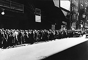 Soup kitchen in the USA 1930's during the Great Depression.