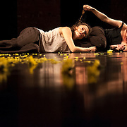 """September 18, 2012 - New York, NY : Lindsey Dietz Marchant, right, and Tami Stronach perform during a dress rehearsal of the world premiere of Tami Stronach's """"ME AND NOT ME"""" at Dance New Amsterdam in Manhattan on Tuesday night. CREDIT: Karsten Moran for The New York Times"""