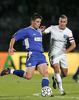 Fotball<br /> Frankrike<br /> Foto: Dppi/Digitalsport<br /> NORWAY ONLY<br /> <br /> FOOTBALL - UEFA CUP 2006/2007 - 1ST ROUND - 2ND LEG - AJ AUXERRE v DINAMO ZAGREB - 28/09/2006<br /> <br /> OGNJEN VUKOJEVIC (DIN) / BENOIT CHEYROU (AUX)