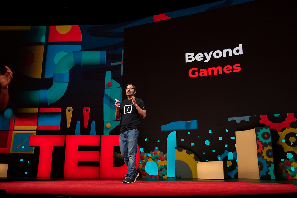 Herman Narula speaks at TED2019: Bigger Than Us. April 15 - 19, 2019, Vancouver, BC, Canada. Photo: Bret Hartman / TED