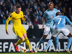 February 14, 2019 - MalmÃ, Sweden - 190214 Ross Barkley of Chelsea and Carlos Strandberg of Malmö FF during the Europa league match between Malmö FF and Chelsea on February 14, 2019 in Malmö..Photo: Ludvig Thunman / BILDBYRÃ…N / kod LT / 92225 (Credit Image: © Ludvig Thunman/Bildbyran via ZUMA Press)