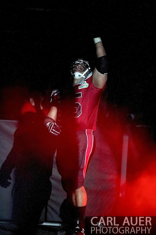 4/12/2007 - George Noga is introduced to the home crowd as he takes the field for The Alaska Wild of the IFL.