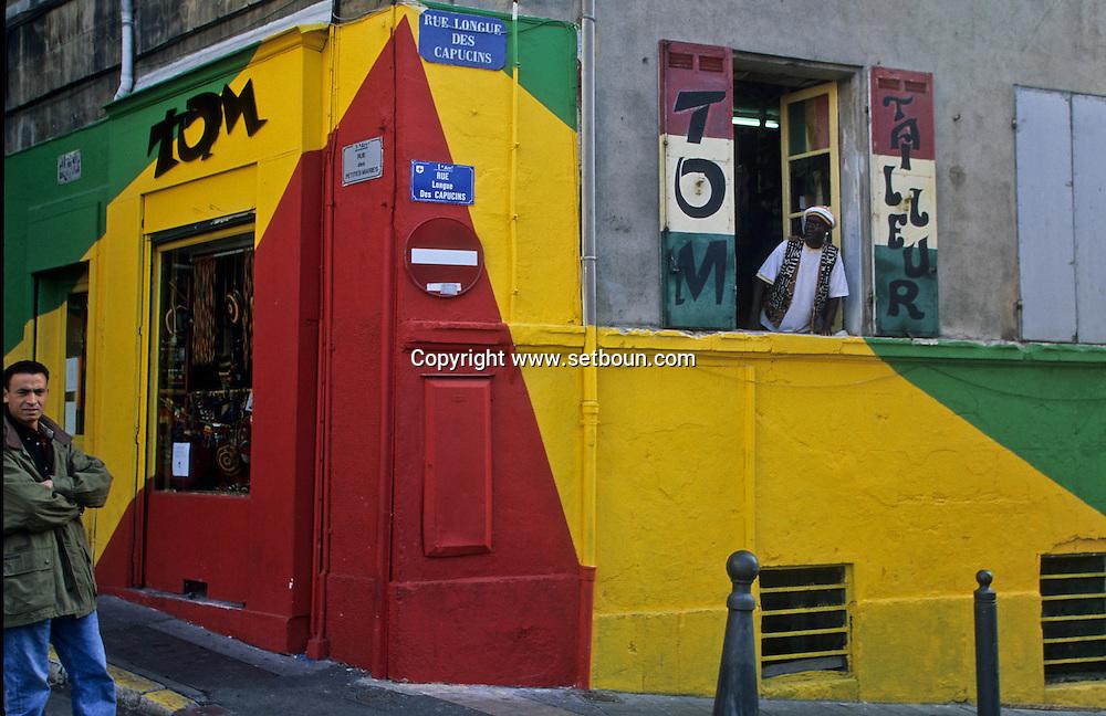 = thomas sarr rasta shop in belsunce area  Marseille  France     /// la boutique rasta de Thomas SARR (senegalaisà) dans le quartier belsunce  Marseille  France  +